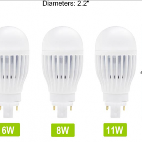 Plug-In LED Lamp Vertical Mount 6 Watts 4Pin Base 5000K