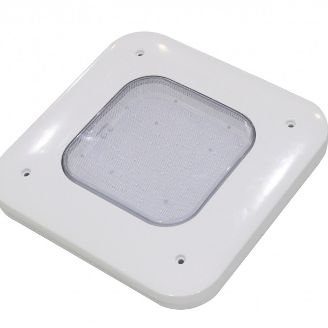 Canopy Lights 130 Watts 480V White Surface Mount 5000K