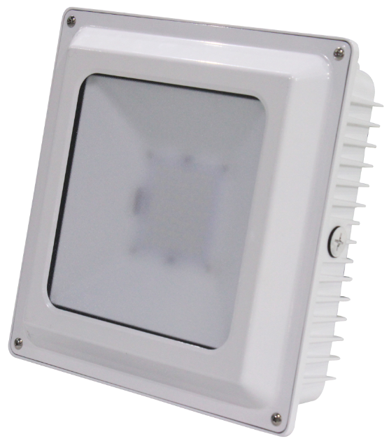 Canopy Lights 75 Watts White Surface Mount 4000K